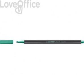 Pennarellino Stabilo Pen 68 metallic 1 mm - verde metallizzato - 68/836