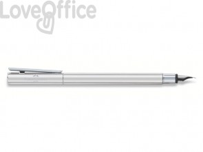 Penna Stilografica Faber-Castell Neo Slim M metallo cromato 342000