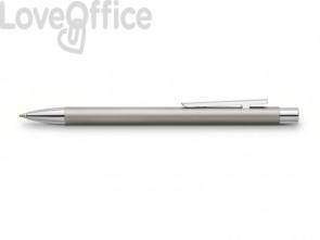 Penne a sfera a scatto Faber-Castell Neo Slim M metallo satinato 342120