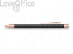 Penna a sfera a scatto Faber-Castell Neo Slim M nero/rosegold 343320