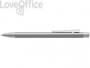 Penna a sfera a scatto Faber-Castell Neo Slim M metallo cromato 342020
