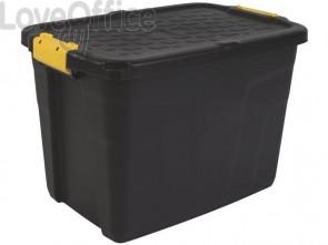Contenitore multiuso in polipropilene 60L Strata nero/giallo 2004420130