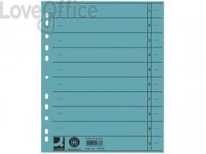 Separatore per archivio con perforazione universale Q-Connect 24x30 cm 230 g/m² blu  conf. da 100 - KF02786
