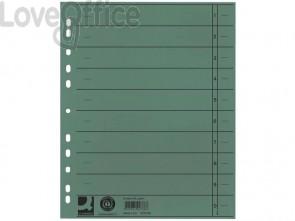 Separatore per archivio con perforazione universale Q-Connect 24x30 cm 230 g/m² verde - KF02788 (conf.100)