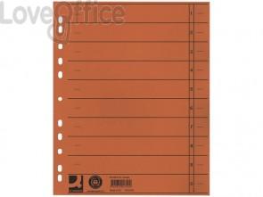 Separatore per archivio con perforazione universale Q-Connect 24x30 cm 230 g/m² arancio  conf. da 100 - KF02790