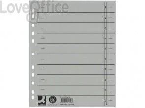 Separatore per archivio con perforazione universale Q-Connect 24x30 cm 230 g/m² grigio  conf. da 100 - KF02789