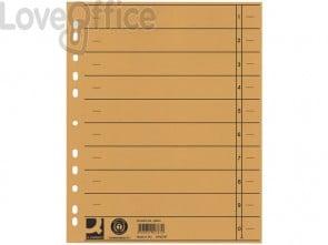 Separatore per archivio formato A4 universale Q-Connect 24x30 cm 230 g/m² giallo - KF02787 (conf.100)