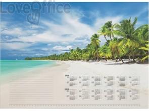 Blocco calendario DURABLE 570x410 mm 25 ff stampa a fantasia spiaggia tropicale 732115