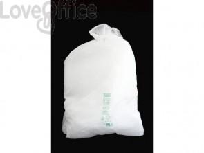 Sacchi immondizia Cagliplast in mater-bi biodegradabile capacità 97 l Bianco naturale  rotolo da 20 pz. - 21361