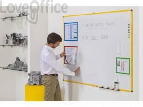 Lavagne cancellabili Bi-office Ultrabrite magnetica bianca laccata 90x60 cm. bianco - MA0315177
