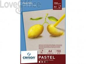 Blocco collato lato corto CANSON Dessin Couleur bianco, nero, grigio chiaro 150 g/m² 12 fogli A4
