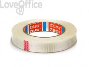 Nastro adesivo per la spedizione con fibre di vetro  rinforzato trasparente Tesa mono-filament - 19 mm x 50 m - 04591-00001-00