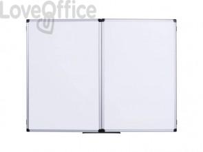 Lavagna cancellabili Bi-office Maya Trio pieghevole magnetica bianca laccata 90x60 cm. bianco - TR01020509170