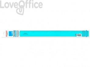Riga ARDA Tecnoschool polistirolo termoresistente azzurro trasparente 60cm 40060SS