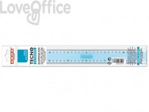 Triplo decimetro ARDA Linea Tecnoschool polistirolo termoresistente azzurro trasparente 30 cm - 406SS