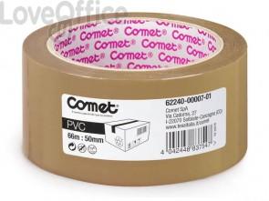 Nastro adesivo per la spedizione Comet PVC con adesivo in gomma naturale 50mmx66m avana - 62240-00007-01
