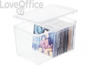 Contenitore Rotho Clear Box in PPL impilabile trasparente - 5 l. F707802
