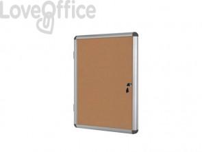 Bacheca in sughero Bi-Office Enclore con cornice in alluminio 12xA4 VT660101150