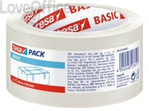 Tesa Nastro da imballaggio trasparente - Basic - 50 mm x 66 mm (conf.6)