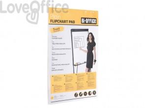 Blocco lavagna per cavalletti Bi-office Hearth - carta bianca 80 g/m² - 95x65 cm - FL039403 (20 fogli)