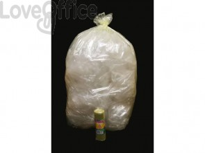 Sacchi immondizia ROLSAC in polietilene rigenerato capacità 97 l GIALLO TRASP. rotolo da 10 pz. - 10467