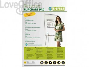Blocco lavagna per cavalletti Bi-office Hearth - carta bianca 70 g/m² - 95x65 cm - FL0325003 (20 fogli)