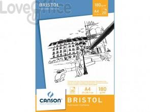 Blocco da disegno CANSON Bristol bianco 180 g/m² 20 fogli A4