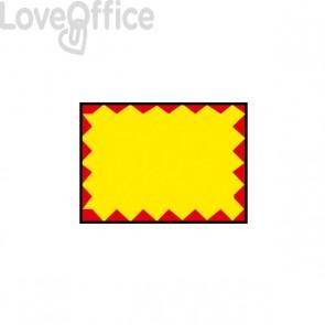 Etichette permanente giallo/rosso - 26x19 mm -per Prezzatrice 184994 Printex B10/2619/FPGSTF (Conf.10)