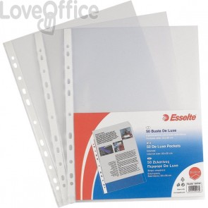 Buste a foratura universale A4 Copy Safe Esselte - Office 22x30 cm - goffrata (conf.50)
