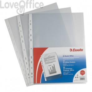 Buste a foratura universale Copy Safe Esselte - Deluxe 22x30 cm lucida (conf.50)