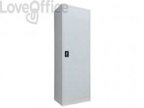 Armadio porta scope KUBO un'anta 60x41x181,5 cm grigio PS /60