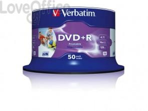 DVD+R Wide Stampabile Verbatim Spindle 4.7 GB - velocità 16x Conf. 50 pezzi - 43512