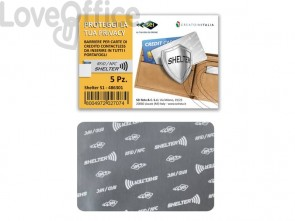 Porta credit card Sei Rota Shelter-C 1A alluminio 486301