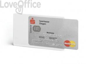 Tasca porta carte di credito DURABLE RFID SECURE CONFEZIONE RETAIL trasparente 54x86mm conf. 3 - 890319