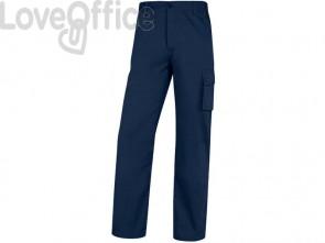 Pantaloni da lavoro Delta Plus Palig in cotone con elastico - 5 tasche blu - L