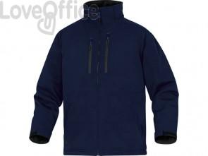 Giacca da lavoro Delta Plus Parka Milton 2 chiusura con zip impermeabile - 6 tasche - poliestere blu L - MILT2BMGT