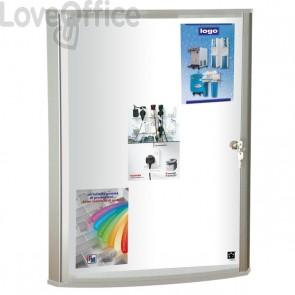 Bacheca magnetica per interni con anta a battente e serratura - WDX 5 Star - 72x7,5x96 cm - verticale