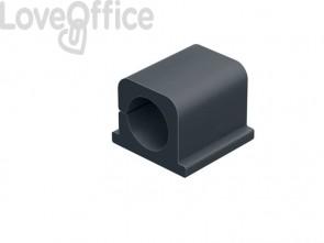 Clip fermacavi adesiva DURABLE CAVOLINE CLIP PRO 2 grafite per 2 cavi - 504337 (conf. da 4)