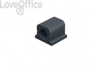 Clip fermacavi adesiva DURABLE CAVOLINE CLIP PRO 1 grafite per 1 cavo - 504237 (conf.6)