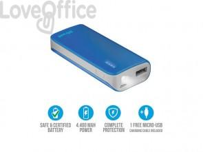 Caricatore portatile Powerbank 4400 Trust Primo blu 21225