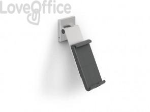 Porta tablet da muro DURABLE con braccio ad angolazione variabile argento metallizzato 8,5x5x18cm - 893523