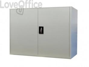 Armadio in metallo KUBO Bertesi 1 vano / 1 ripiano grigio-bianco L100xP45xH90 cm