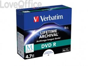 DVD-R M-Disc Stampabile Verbatim 4.7 GB  conf. da 5 - 43821