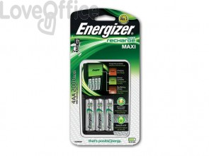 Caricabatterie ENERGIZER Maxi Charger 2000mAh incluse 4 batterie Power Plus AA - E300321201