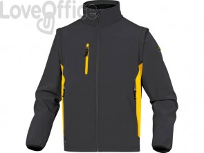 Giacche da lavoro DELTA PLUS MySen 2 con zip - 5 tasche - maniche staccabili grigio-giallo - XXL - MYSE2GJXX