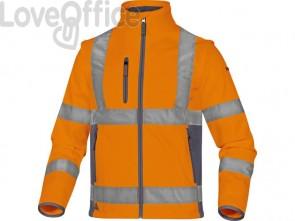 Giacca Delta Plus Moonlight2 -classe 3- 5 tasche - tessuto softshell - argento arancio fluo-grigio - XL - MOON2OGXG