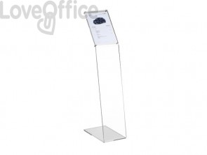 Espositore informativo a leggio TECNOSTYL A4 verticale in acrilico 22x38x108 cm trasparente - MB060