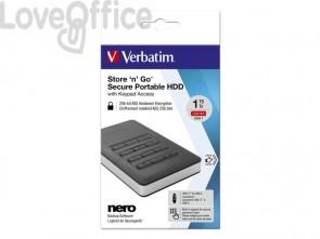 Hard Disk Esterno Store'n' Go Secure 3.1 Verbatim 1 TB 53401