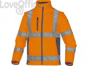 Giacca Delta Plus Moonlight2 -classe 3- 5 tasche - tessuto softshell - argento arancio fluo-grigio - M - MOON2OGTM
