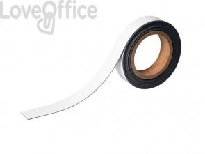 Nastro magnetico DURABLE scrivibile in rotolo bianco Lunghezza 5 mt x h 30 mm